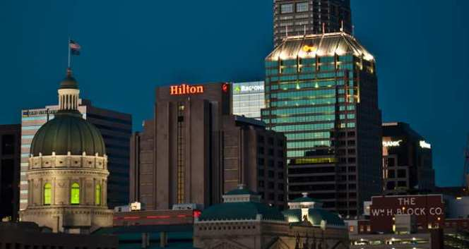 Hilton at Night