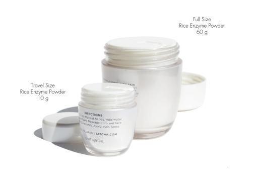 Tatcha Classic Rice Enzyme Powder Full Size vs Travel Size